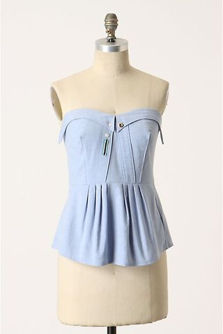 Crisp indigo blouse