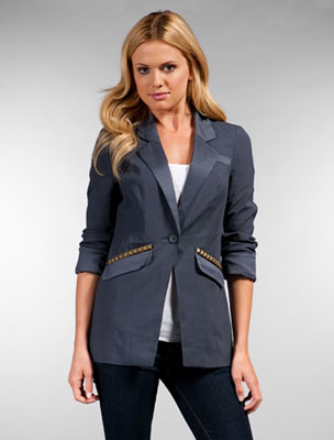 Free people vice studded blazer